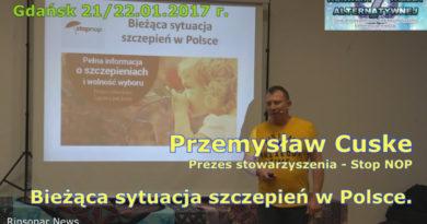 Przemysław Cuske. Bieżąca sytuacja szczepień w Polsce [2017] [wideo]